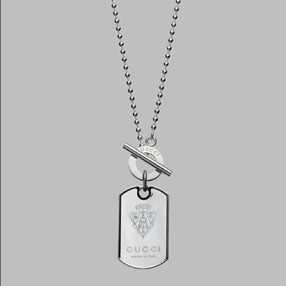 4d584656a Gucci Accessories | Mens Sterling Silver Crest Dog Tag | Poshmark